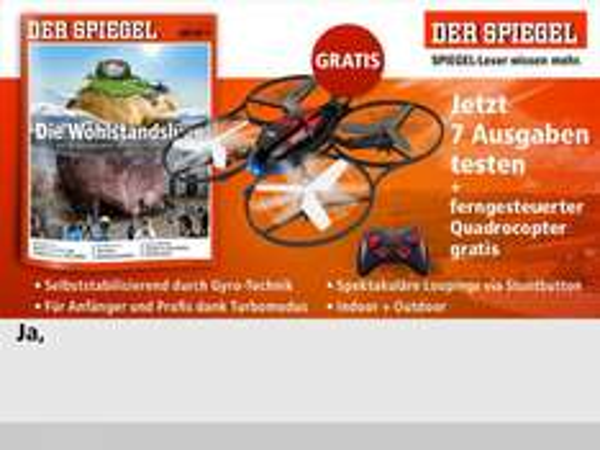 Noch einmal ein Quadrocopter + 7xSpiegel für 19,90€