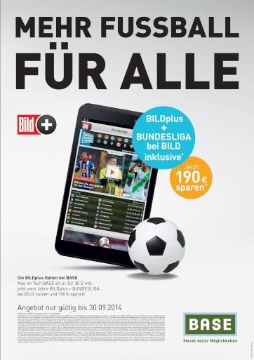Vorab: Bundesliga und BILDplus zwei Jahre kostenlos für BASE-Kunden (selbstkündigend!)