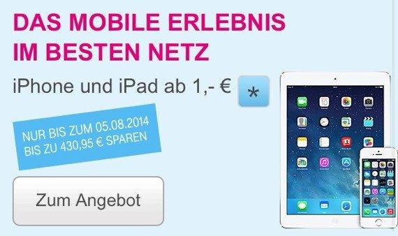 iPhone + iPad + Tarif: Telekom startet Bundle mit 430 € Ersparnis