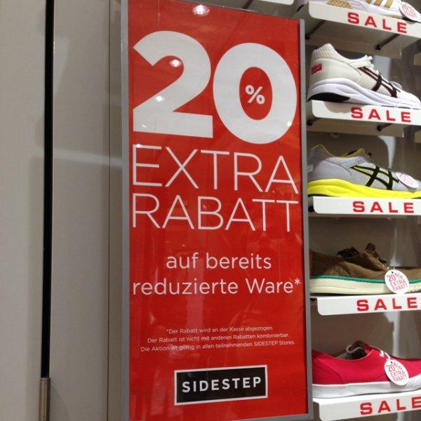 [Lokal Braunschweig] Bei Sidestep; Auf reduzierte Schuhe nochmal -20%