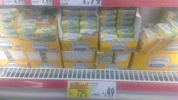 Landliebe Butter, 250gr. für 0,49€ bei Kaufland[lokal]