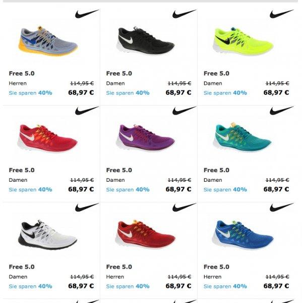 Nike Free 3.0 & 5.0 für Damen & Herren für nur 68,97€ ab 2 Paar nur 61€ inkl. Versand - viele Farben und Größen