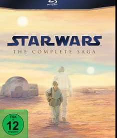 Star Wars Komplettbox Blu Ray für 65,79€
