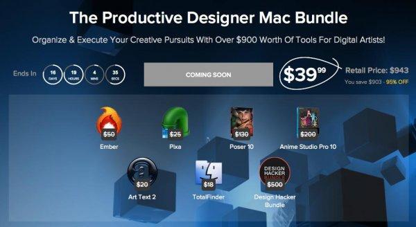(MAC) Productive Designer Mac Bundle mit 6 Apps und Tools im Wert von $943