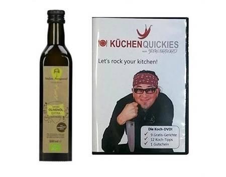 Stefan Marquard Premium BIO LUXUS Olivenöl 0,5L mit Koch DVD (KüchenQuickies) @meinpaket 9,99€
