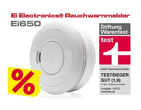 Testsieger Rauchwarnmelder Ei650 17,70€ (Nur Heute)