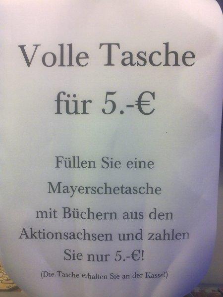 [Lokal] Aachen - Mayersche Outlet: Volle Tasche für 5 €