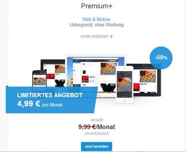 Deezer Premium+ für 4,99 Euro statt 9,99 Euro (bis zu 3 Monate)
