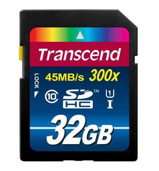 Transcend TS32GSDU1 Class 10 UHS-I Premium SDHC 32GB Speicherkarte @AmazonPrime