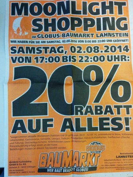 [lokal] 20% im Globus-Baumarkt in Lahnstein