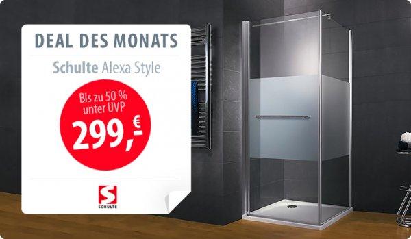 Schulte Duschkabine Alexa Style Tür mit Seitenwand