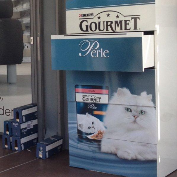 Lokal: Hannover Katzenfutter Freebie am Bahnhof: Gourmet