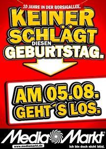 Geburtstags-Angebote im MM Frankfurt-Borsigallee: Fernseher, BD-Player, Digicam, Camcorder, Waschmaschine... (lokal FFM)