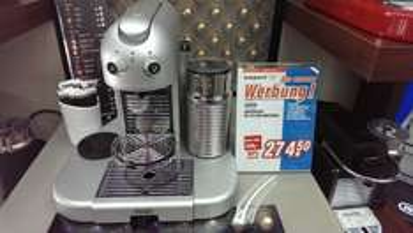 Lokal Fulda - >  50% Rabatt auf Nespresso DeLonghi GRAN MAESTRIA Platinum EN 470SAE