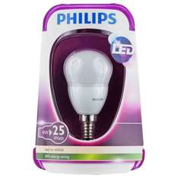 Philips LED Lampe matt Tropfenform 4W =25W E14 für 3,99/Stück