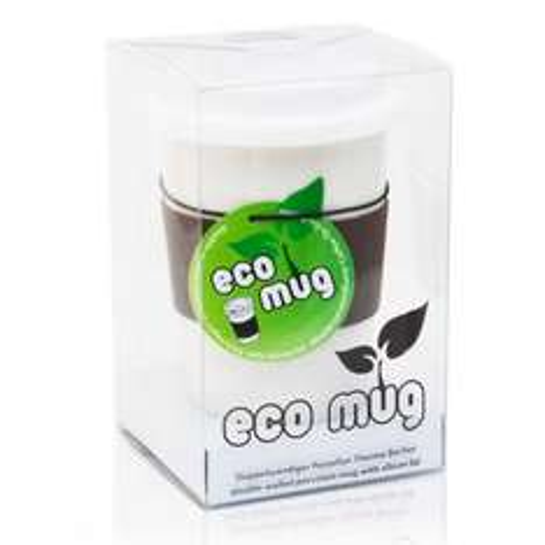 "Doppelwandiger Porzellan ""Eco Mug"" Kaffeebecher Coffee-to-Go"