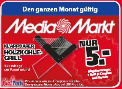 *Mediamarkt Neutraubling* Klappbarer Holzkohlegrill für 5€