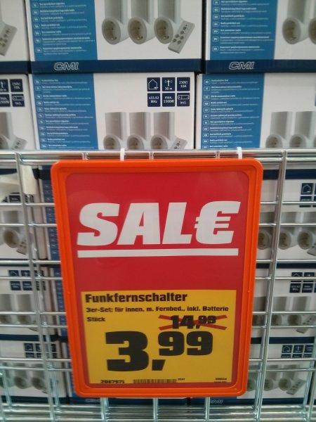 [Lokal Dresden] OBI CMI Funkfernschalter-Set 3er-Set+Fernbedienung 3,99€
