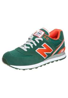 New Balance ML 574 Sneaker in green/orange bei Zalando für 43,96