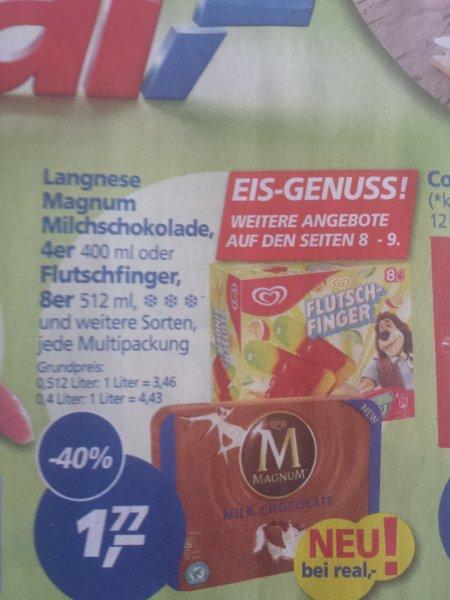 [Lokal Aachen] [Real] Langnese Magnum und Flutschfinger 1,77 €
