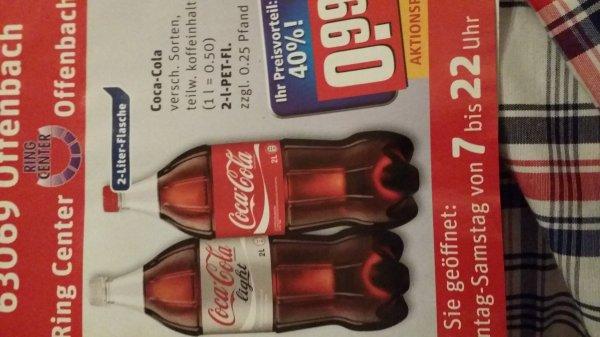 Coca-Cola 2 Liter Pulle @Rewe-Center