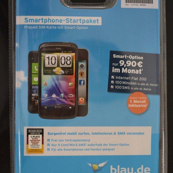 Prepaid Handy SIM-Karte 9,90€ Guthaben blau.de 9 Cent/Min Base E-Plus Ortel