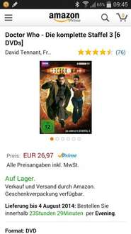 Doctor Who Staffel 3 u. 4 je 27€