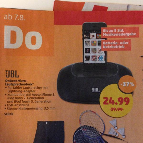 JBL OnBeat Micro Lautsprecherdock für iPhone 5 für 25€ [evtl lokal Süddeutschland]