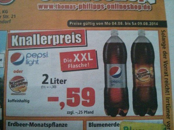 2 Liter Pepsi Light oder Schwip Schwap