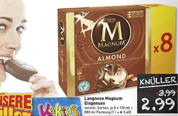 [ Marktkauf RHEINRUHR ] Langnese Magnum Eis 8er Pack 880ml für 2,99€