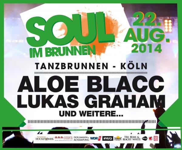 """[Groupon] 1 Ticket für """"Soul im Brunnen"""" am 22.08.2014 im Kölner Tanzbrunnen für 26,90 € (statt 55€)"""