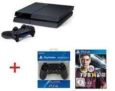 Playstation 4 + Fifa 14 + 2. Controller 442€