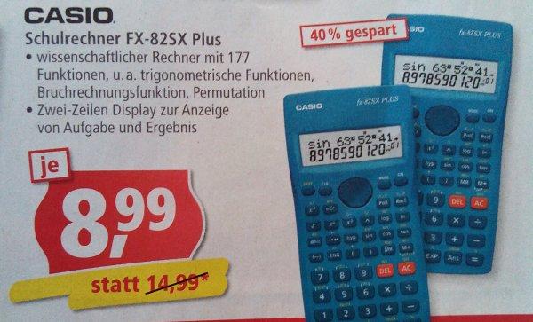 Casio Schulrechner FX-82SX Plus bei Pfennigpfeiffer