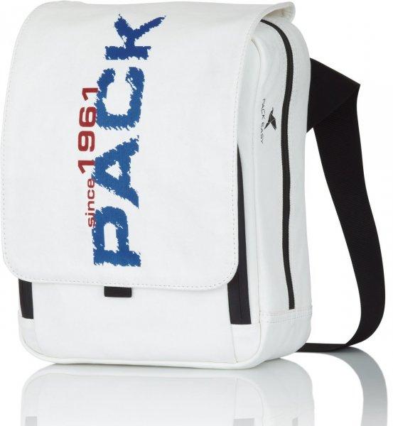 Pack Easy Umhängetasche Street Line Weiß/Blau oder Weiß/Rot [Warehouse DE]