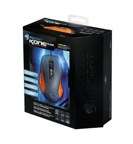 """Roccat™ - Gaming-Maus """"Kone Pure Orange"""" (7 Tasten,8200dpi,USB,Lasersensor) [B-Ware] für €40,88 [@MeinPaket.de]"""