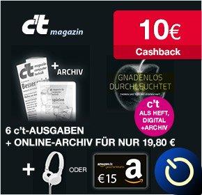 6xC't lesen + 15€ Amazon Gutschein + 10€ QIPU (rechnerisch 5,20€ Gewinn)