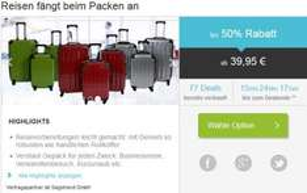 Reduzierte Reisekoffer [50%]