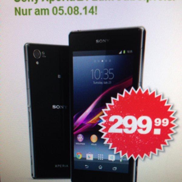 Sony Xperia Z1 für 299€ Vertragsfrei