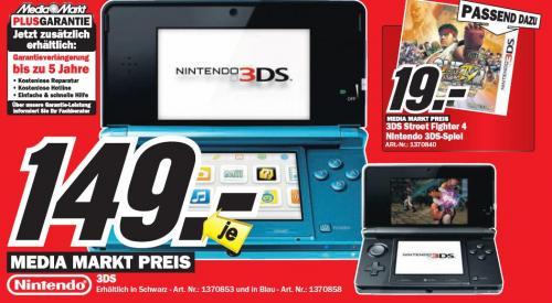 [LOKAL] Nintendo 3DS 149€, diverse Blu-Rays 7€ @ MediaMarkt Leipzig (Paunsdorf)
