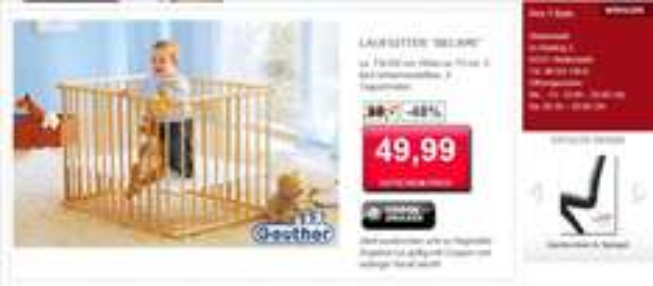 LOKAL Geuther Laufgitter Belami (73 x 102 cm) für 49,99 Euro Idealo ab 70 Euro UVP 99,99 Euro
