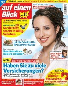 """Jahresabo TV-Zeitung""""Auf-einen-Blick"""" für 20Cent pro Ausgabe.."""
