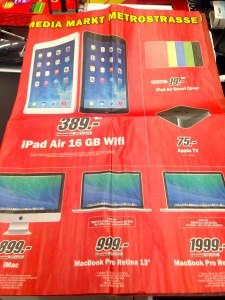[LOKAL]@MediaMarkt Düsseldorf Metrostrasse iPad Air,Apple TV,MacBook Pro,iMac,Bose Sound Link Mini Und Vieles Mehr