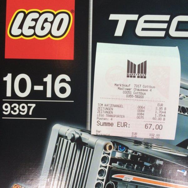 [Lokal Cottbus] Lego Technic 9397 Holztransporter für 60,-€