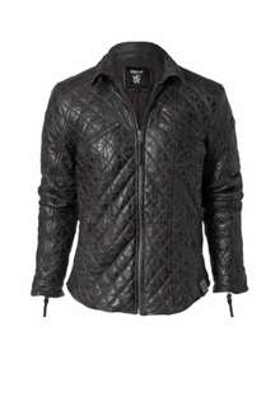 Tigha Larry - gesteppte Lederjacke braun oder schwarz für 266€ statt 379€ (-30%)