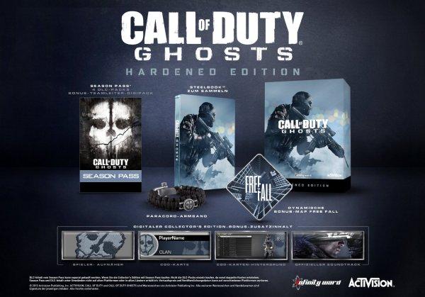 Call Of Duty: Ghosts (Hardened Edition)  Xbox 360 & PS3 für 25,00 Abholung Saturn (oder 4,99 Versand)