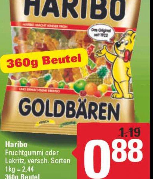 Haribo Fruchtgummi oder Lakritz 360g-Beutel in der Region Hannover bei Marktkauf und NP