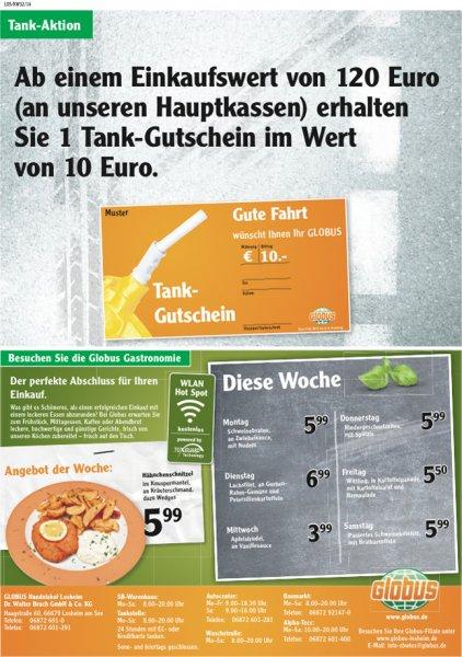 Globus Losheim (Lokal) ab 120 € Einkaufswert einen 10 € Tankgutschein erhalten