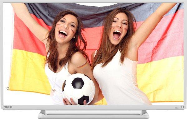 Toshiba 32L2434DG 32 Zoll LED TV 200 Hz Full HD USB Mediaplayer DVB Tuner Weiss  @ebay 222€