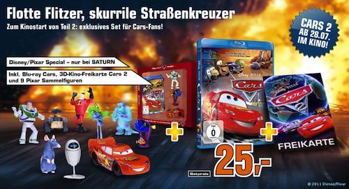 [lokal?] Saturn Münster: Cars Blu-Ray + Cars 2 Freikarte + 9 Pixar-Sammelfiguren