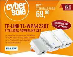 TP-LINK TL-WPA4220T KITPowerline mit Repeater Funktion Schnäppchen